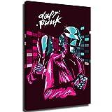 Zmcongz daft punk dj wall art daft punk - pósters de arte abstracto 3d (61 x 91,44 cm), diseño de casco daft punk