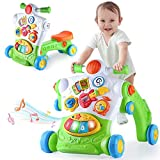 iPlay, iLearn 3 in 1 Baby Sit to Stand Walker, Infant Ride On Toy, Toddler Push Toy, Musical Activity Center, Lights N Sounds, Learning Birthday Gift for 6 9 12 18 24 Months, 1 2 Years Old Boys Girls