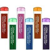 Jovitec Color Lead Refill Colored Pencils Lead, 0.7 mm HB, 6 Color Set (180 Pieces)