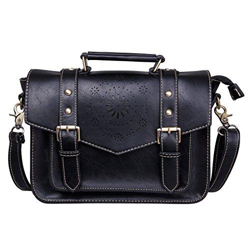 Ecosusi Donna in Ecopelle Vintage Borsa Messenger Bag Borsa a tracolla