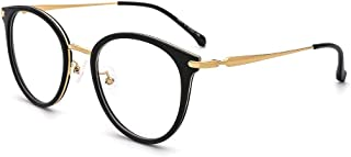 OQ CLUB Oversized Retro Round Blue Light Glasses Metal...