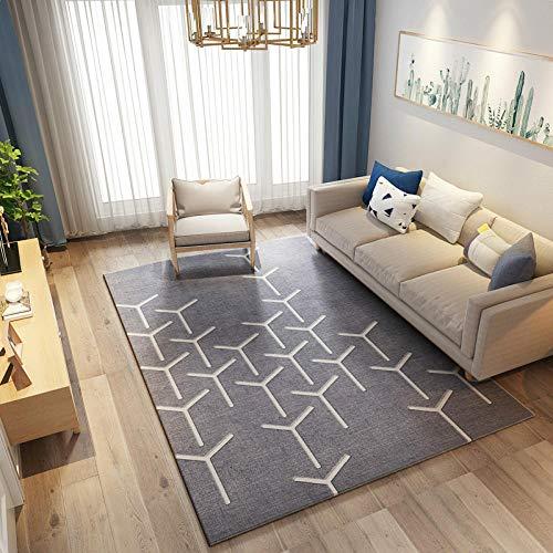 Moderna alfombra geométrica moderna para salón, sofá, mesa de centro o dormitorio llena de tiendas, adecuada para la mesa de noche de 160 cm x 230 cm