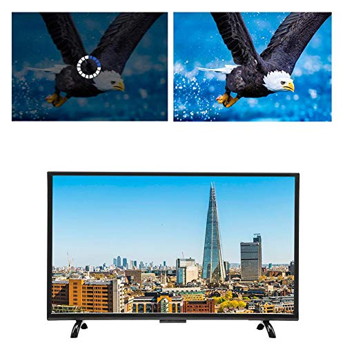 Smart Curved HDR HD LCD TV met wandmontage bundel, Intelligent Sprach Controlled TV 43 inch breedbeeld monitor scherm, 1920 x 1200 P hoge resolutie, ondersteunt WiFi, VGA, USB, HDMI, RF, EU.
