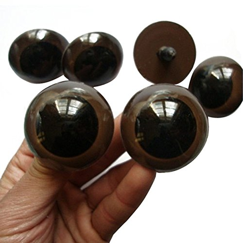 "erioctry 100PCS Brown Plastic Safety Eyes for Bear Doll Stuffed Animals Puppet Doll Making(18mm/0.70"")"