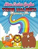 Mein Erstes Großes Tiere Malbuch Für Kinder Ab 2 Jahre: 60 Malvorlagen Tiere - Tiere Malbuch für Kinder ab 2 Jahren Geschenkidee für kinder Mädchen und Jungen