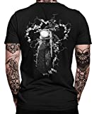Biker Bike Motorrad Motorradfahren Chopper Rider Moped Rocker Metal Racer Herren Männer T-Shirt Rücken