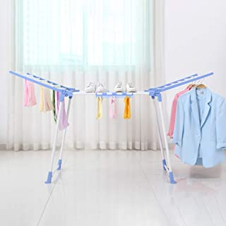 Folding Collapsible Clothes Airer Drying Rack (Blue)
