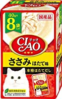 (まとめ買い)いなばペットフード CIAO チャオ パウチ ささみ ほたて味 40g×8袋 猫用フード 【×6】