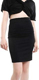 LOB Falda Midi Negra Falda para Mujer