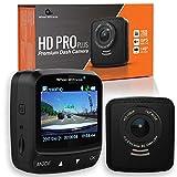 WheelWitness Dash Cam HD PRO Plus - w/WiFi & GPS, Sony Exmor Sensor, DVR, Dual USB Charger, G Sensor, Night Vision + Free 16GB SD (Certified Refurbished)