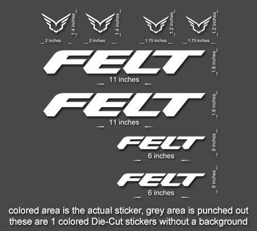 Felt Road, Mountain, Downhill Bike sticker/decal laptop, helmet, bicycle, car (Orange)