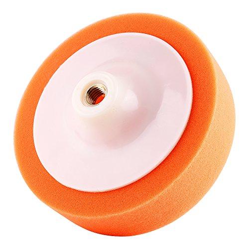 6 Pouces Éponge de Polissage, Keenso Kit Machine à Polir Roue de Tampon de Polissage de Voiture Orange