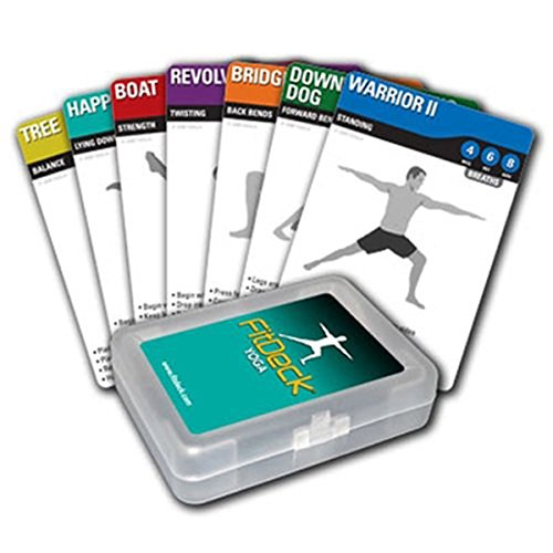 Fitdeck Illustrated Exercise Playing Cards for Guided Workouts, Yoga