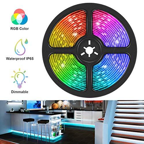 UltraBright 1m / 2m / 3m / 4m / 5m Multicolor DC 12V Impermeable IP65 5050 Hada Luz Tira de RGB LED SMD (60LEDs/m) Iluminación (3 Metros)