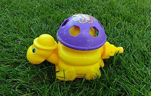 Wasserspielzeug für ganz großen Sprinkler Spaß Ihrer Kinder | Outdoor Spielzeug | Wasserspiel im Garten Spielzeug | Gartenspiele Waterplay Aqua Play | Kinderspielzeug draußen (Gelb/Lila (Schildkröte))