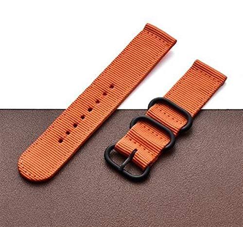 Correa de lona de nylon para MI Huami 3 2 2S / PACE/Banda de reloj de 47 mm para ver GT GT2 46mm correas 1033 (Band Color : Orange, Band Width : For Amaz Pace)