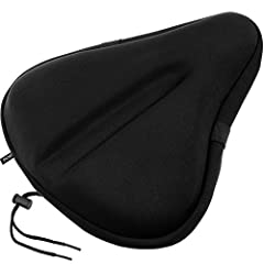 Best Gel Material - Zacro gel seat saddle will hel you getting rid of pain during cycling . Enjoy longer riding - Explore new grounds and enjoy longer rides on your bike. With your gel seat cover on, most of the shocks will be absorbed . Easy Install...