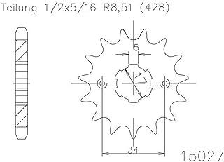 1//2/X 5//16 Pignon 17/dents Acier 428er Division
