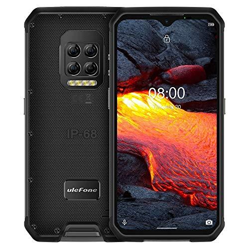 Teléfono inteligente de alta tecnología Quad Volver Cámaras, IP68 / IP69K impermeable a prueba de polvo a prueba de golpes, y Face ID identificación de huellas dactilares, 6600mAh de la batería, 6,3 p