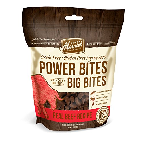 Merrick Power Bites - Big Bites Real Beef Recipe Dog Treat, 6Oz