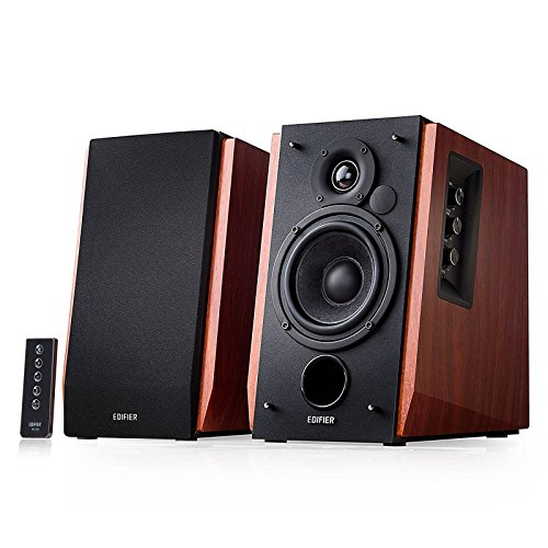 Edifier R1700BT Bluetooth Bookshelf Speakers – Active Near-Field Studio Monitors – Powered Speakers 2.0 Setup Wooden Enclosure – 66w RMS