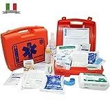 Kit Pronto Soccorso Medico per (Aziende fino a 2 dipendenti) con Ghiaccio Pronto uso per Casa, Auto, Campeggio e Ufficio, Made in Italy – FIRSTMED