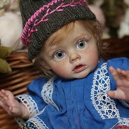 Bebe Reborn Kit 12 Pulgadas Reborn Baby Vinyl Kit FLO Mini Elf Piezas de muñecas sin Montar sin recargar DIY Kit de muñecas Reborn Reborn
