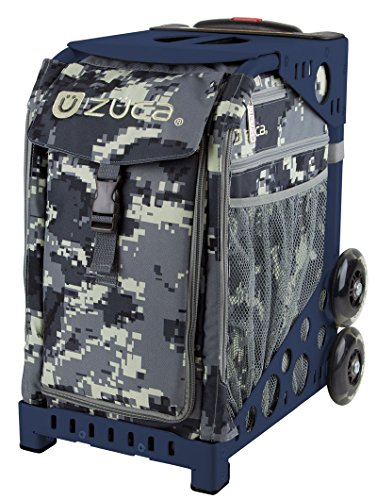 ZUCA Anaconda Sport Insert Bag and Navy Blue Frame with Flashing Wheels