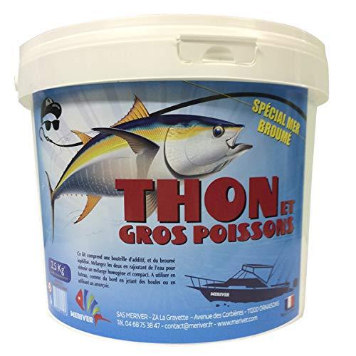 Broumé Mer especial para atún y peces grandes en cubo de 2,5 kg, atractivo para la pesca 100% natural.
