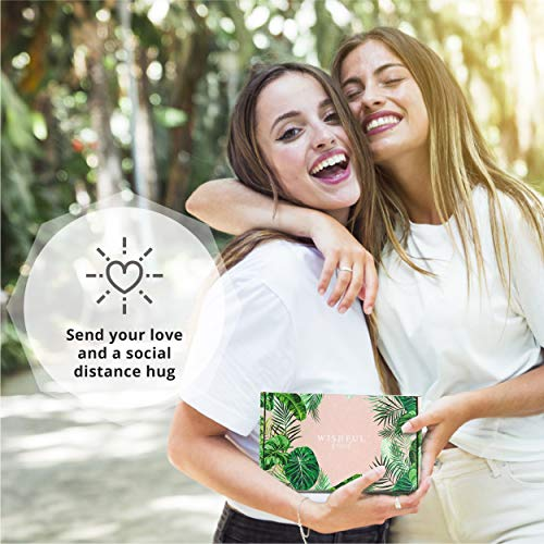 Wishful Parcel Care Package Gift Box for Women – Send a Social Distance Hug Unique Gift Set for Friend, Mom, Sister, BFF - Get Well Soon Gift, Self Care Gift