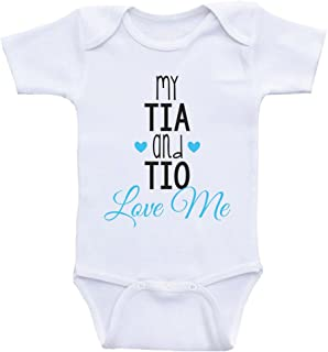 Cute Baby Bodysuits My Tia and TIO Love Me Newborn Baby Clothes