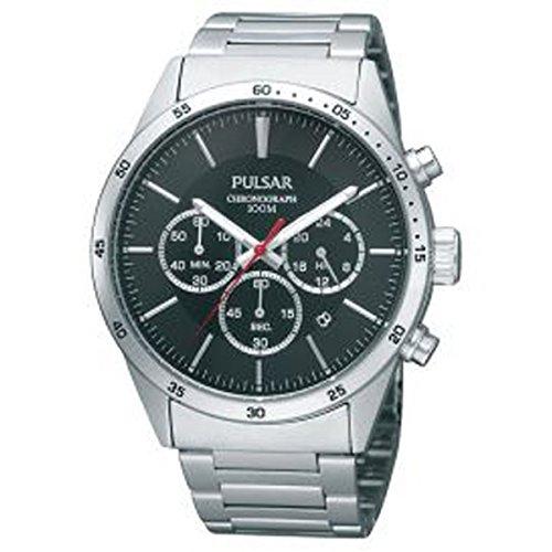 Pulsar - Reloj Pulsar Sport con crono para hombre, acero, 4 cm