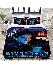 CCBZLY Riverdale Sängkläder set, 100 % mikrofibersängkläder, 3D-digitaltryck påslakanset, ett påslakan och två örngott