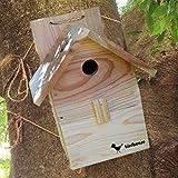 【野鳥用巣箱 完成品】すぐ取り付けできます!バードハウスA(前扉タイプ)親子体験、夏休みの自由研究、PTA活動に!