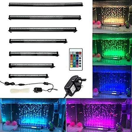 Gpzj RGB LED-Tauchaquarienleuchte, automatisierte Aquarienbeleuchtung rund um die Uhr, LED-Aquariumleuchte mit Steuerung, aktualisierte Version