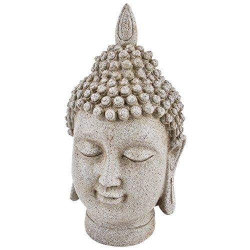 Dadeldo Living & Lifestyle Buddha Deko Objekt Clay Fibre 33x18x20cm grau Figur Statue Asia