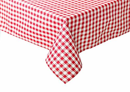 Landhaus Tischdecken in Karo rot 80 x 80 cm Baumwolle