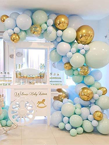 flower205 Latex Ballons Set, Ballon Bogen Und Girlande Kit, Konfetti Und Macaron Farbe Latex Ballon Bonbonfarbenen Luftballons Für Hochzeit Geburtstag Grad Party Graduation Decor