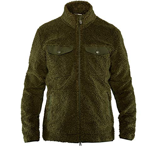 Fjallraven Herren Greenland Pile Fleece M Sweatshirt, Deep Forest, XL