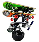 StoreYourBoard Skateboard Rack, 3 Board Wall Storage Mount, Home and Garage