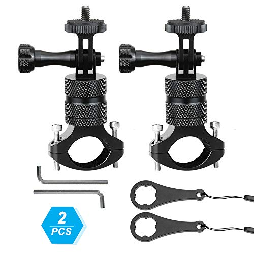 (2PCS) Tytyp Compatible for Gopro Bike/Bicycle/Motorcycle Handlebar Mount, Bike Mounts, All-Aluminum Metal Construction, 360 Degree Rotation Sturdy Little Unit Handlebar