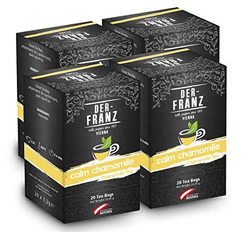 Der-Franz - Manzanilla \Calm Chamomile\ en bolsitas de te clasicas, 4 paquetes (20 x 1,2 g)