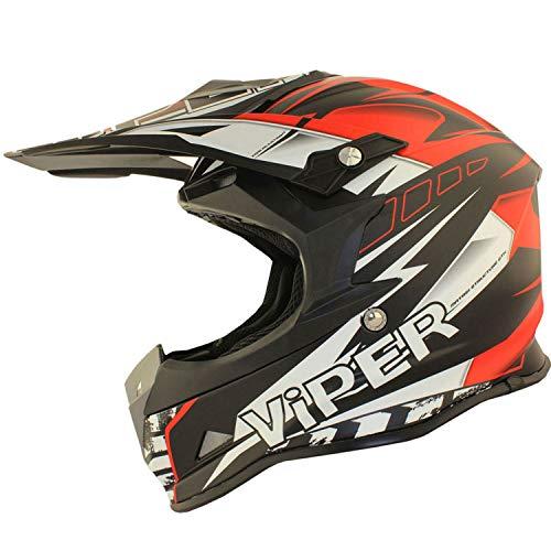 VIPER RSX121 SUPERCROSS ENDURO ECE 22.05 APROBADO MOTO CASCO ROJO EQUIPO DE...