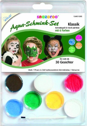 Mammut 126003 - Snazaroo Schminkset - Klassik 6 Farben