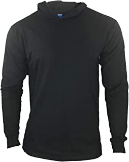 Men Construction Long Sleeve Work T Shirts with Hood
