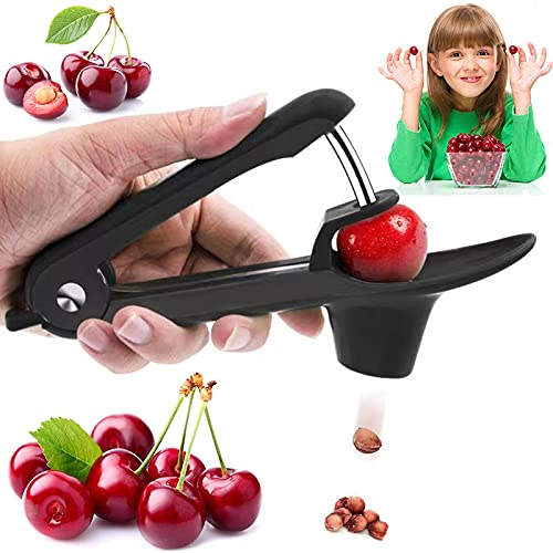 Cherry Pitter Olive Pitter Tool Cherry Pitter Tool Remover Fruit Pit Core Remover with SpaceSaving Lock Design for Make Fresh Cherry Dishes and Cocktail Cherries