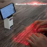 Laser Keyboard Projector, Bluetooth Virtual Keyboard Computer Accessories Projection Keyboard for iPhone, Holographic Keyboard iPad, Infrared Mac, Laser Wireless Keyboard Android Piano