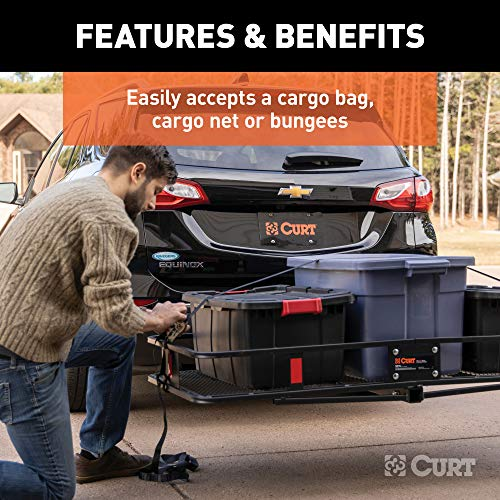 CURT 18153 500 lbs. Capacity Basket Trailer Hitch Cargo Carrier, Fits 2-Inch Receiver