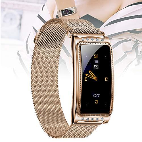 Smart Watch compatibile per telefoni Android e iOS,orologio multifunzione,braccialetto intelligente da donna per uomo donna,promemoria per il monitoraggio del periodo fisi(Size:taglia unica,Color:oro)
