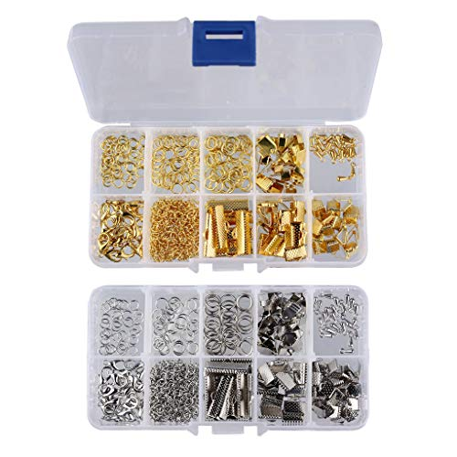 harayaa Kit de Inicio de 2 Cajas de Hallazgos de Joyería para Manualidades de Collar Y Pulsera de Bricolaje